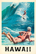 """Movie Posters:Miscellaneous, Hawaii (1950s). Very Fine-on Linen. Travel Poster (25.25"""" X 36"""") Chas Allen Artwork.. ..."""