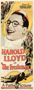 """Movie Posters:Comedy, The Freshman (Pathé, 1925). Fine+ on Cardstock. Insert (14"""" X 36"""").. ..."""