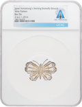 Explorers:Space Exploration, Jewelry: Janet Armstrong's Delicate Wire Pattern Sterling Silver Butterfly Brooch Directly From The Armstrong Family Colle...