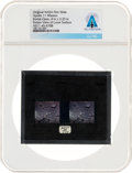 Explorers:Space Exploration, Apollo 11 Original NASA Stereo Glass Slide, a Close-up Image of Lunar Rocks, Directly From The Armstrong Family Collection...