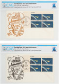 "Explorers:Space Exploration, Philatelia: ""Project Mercury"" Plate Block First Day Covers (Two) Directly From The Armstrong Family Collection™, CAG Certi... (Total: 2 Items)"