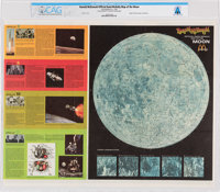 1969 Ronald McDonald Official Rand McNally Map of the Moon Directly From The Armstrong Family Collection™, CAG Certified...