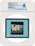 Explorers:Space Exploration, Apollo 12 Original NASA Glass Film Slide, an Image of Charles Conrad and Surveyor III, Directly From The Armstrong Family ...