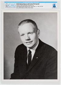Neil Armstrong Early NASA Manned Spacecraft Center Business Suit Pose Photo Directly From The Armstrong Family Collectio...