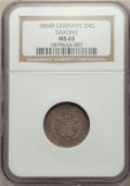 Germany:Saxony, Germany: 4-Piece Lot of Certified Assorted Issues NGC,... (Total: 4 coins)