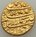 Afghanistan, Afghanistan: Durrani. Ahmad Shah gold Mohur ND (1754-1757) UNC (Ex-jewelry, Rim Filing, Scratches),...