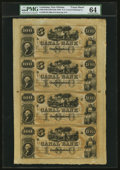 Obsoletes By State:Louisiana, New Orleans, LA- Canal Bank $100-$100-$100-$100 18__ Uncut Sheet PMG Choice Uncirculated 64.. ...