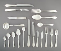 A One Hundred and Thirty-Nine-Piece Tiffany & Co. Faneuil Pattern Silver Partial Flatware Se