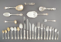 A Two Hundred Fifty-Seven-Piece Reed & Barton Les Cinq Fleurs Pattern Silver Partial Flatwar