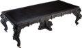 Furniture, A Japanese Carved Hardwood Mechanized Two-Leaf Dining Table, early 20th century. 30 x 99 x 47-3/4 inches (76.2 x 251.5 x 121...