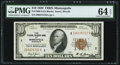 Fr. 1860-I $10 1929 Federal Reserve Bank Note. PMG Choice Uncirculated 64 EPQ