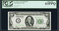 Small Size:Federal Reserve Notes, Fr. 2152-A $100 1934 Dark Green Seal Federal Reserve Note. PCGS Choice New 63PPQ.. ...