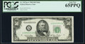 Small Size:Federal Reserve Notes, Fr. 2107-A $50 1950 Mule Federal Reserve Note. PCGS Gem New 65PPQ.. ...