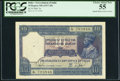 World Currency, India Government of India 10 Rupees ND (1917-30) Pick 7b Jhun3.7.2 PCGS Choice About New 55.. ...