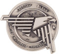 Explorers:Space Exploration, Space Shuttle Discovery (STS-33) Flown Silver Robbins Medallion, Serial Number 42F, Directly from the Family Colle...