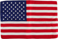 Explorers:Space Exploration, Apollo 16 Flown Larger-Size American Flag Directly from the John W. Young Collection, with Letter of Certification. ...
