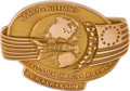 Explorers:Space Exploration, Space Shuttle Discovery (STS-51-D) Flown 10K Gold Robbins Medallion, Serial Number 9F, Directly from the Family Collection of ...