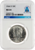 Explorers:Space Exploration, Coins: 1964-D 50¢ MS64 NGC Kennedy Half Dollar Directly From The Armstrong Family Collection™, CAG Certified. ...