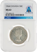 Explorers:Space Exploration, Coins: 1964 Canada 50¢ MS62 NGC Half Dollar Directly From The Armstrong Family Collection™, CAG Certified. ...