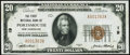 National Bank Notes:New Hampshire, Portsmouth, NH - $20 1929 Ty. 1 The First National Bank Ch. # 19 Very Fine-Extremely Fine.. ...
