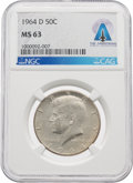 Explorers:Space Exploration, Coins: 1964-D 50¢ MS63 NGC Kennedy Half Dollar Directly From The Armstrong Family Collection™, CAG Certified. ...