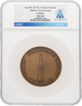 Explorers:Space Exploration, Apollo 11: Aldrin Armstrong Collins Bronze Medal MS68 NGC, Directly From The Armstrong Family Collection™, CAG Certified. ...