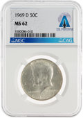 Explorers:Space Exploration, Coins: 1969-D 50¢ MS62 NGC Kennedy Half Dollar Directly From The Armstrong Family Collection™, CAG Certified. ...