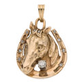 Estate Jewelry:Pendants and Lockets, Diamond, Gold Ring. ...