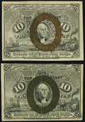 Two Fr. 1245 10¢ Second Issue Notes Very Fine-Extremely Fine or Better. ... (Total: 2 notes)