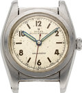 Timepieces:Wristwatch, Rolex, Stainless Steel Bubble Back, Ref. 2940, circa 1940, For Repair. ...