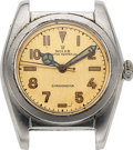 Timepieces:Wristwatch, Rolex, Steel Bubble Back, Ref. 2940, circa 1946 For Repair. ...