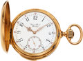 Timepieces:Pocket (pre 1900) , Swiss, Fine 18k Gold Quarter-Hour Repeater For August Buxel, Hamburg, circa 1890's. ...