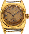 """Timepieces:Wristwatch, Rolex, 18k Gold Vintage Oyster """"Viceroy"""", circa 1930's. ..."""
