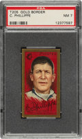 Baseball Cards:Singles (Pre-1930), 1911 T205 Gold Border Deacon Phillippe PSA NM 7 - Only Two Higher. ...