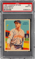 Baseball Cards:Singles (1930-1939), 1934-36 Diamond Stars John Babich (1935 Green) #82 PSA Mint 9 - Pop Two, None Higher. ...