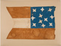Military & Patriotic:Civil War, Rare Circa 1861 Confederate Swallow-tail Lance Pennant.. ...