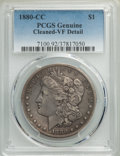 1880-CC $1 -- Cleaning -- PCGS Genuine. VF Detail. NGC Census: (23/7730). PCGS Population: (55/14433). CDN: $190 Whsle...