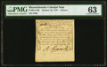 Colonial Notes:Massachusetts, Massachusetts October 16, 1778 4d PMG Choice Uncirculated 63.. ...