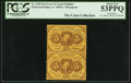 Fractional Currency:First Issue, Uncut Vertical Pair Fr. 1228 5¢ First Issue PCGS About New 53PPQ.. ...