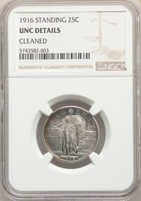 1916 25C Standing Liberty 60 Details NGC