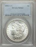 1882-CC $1 MS62 PCGS. PCGS Population: (3044/30922). NGC Census: (1968/15651). CDN: $210 Whsle. Bid for problem-free NGC...