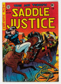Golden Age (1938-1955):Western, Saddle Justice #6 (EC, 1949) Condition: FN+....