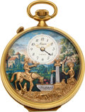Timepieces:Pocket (post 1900), Arnex, Musical Alarm Pocket Watch With Automaton. ...