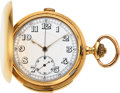 Timepieces:Pocket (pre 1900) , Swiss, Massive 18k Gold Minute Repeater With Chronograph, A. Lugrin's Patent, circa 1890. ...
