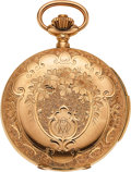 Timepieces:Pocket (pre 1900) , LeCoultre, Ornate 18k Gold Minute Repeater, circa 1890. ...