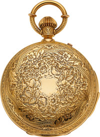 Swiss, Highly Ornate Heavy 18k Gold Minute Repeater, Circa 1895