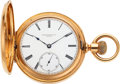 Timepieces:Wristwatch, Patek Philippe & Co., Fine 18k Gold Hunters Case Watch, circa 1884. ...