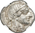 Ancients:Greek, Ancients: ATTICA. Athens. Ca. 440-404 BC. AR tetradrachm (25mm, 17.20 gm, 4h). NGC MS 5/5 - 5/5....