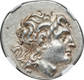 Ancients:Greek, Ancients: THRACIAN KINGDOM. Lysimachus (305-281 BC). AR tetradrachm (31mm, 17.16 gm, 11h) NGC AU 5/5 - 4/5....