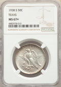 Commemorative Silver, 1938-S 50C Texas MS67+ NGC. NGC Census: (94/8 and 9/0+). PCGS Population: (98/3 and 18/0+). CDN: $675 Whsle. Bid for proble...